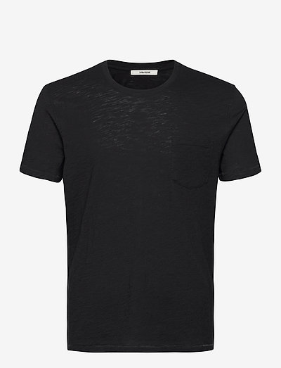 STOCKHOLM FLAMME EAGLE SKULL TSHIRT MC PRINT DOS - basic t-shirts - black