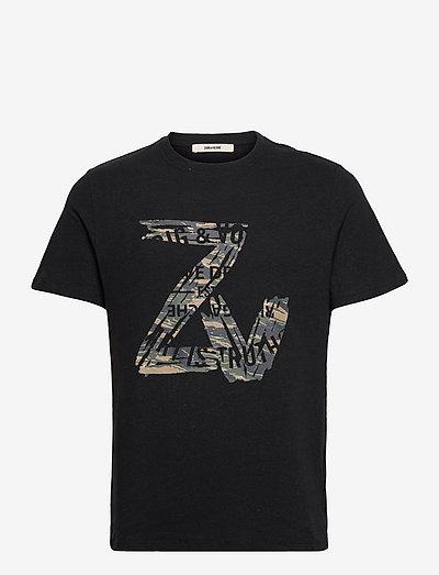 TOMMY NEW ZV BLASON CAMOU T-SHIRT - lyhythihaiset - black