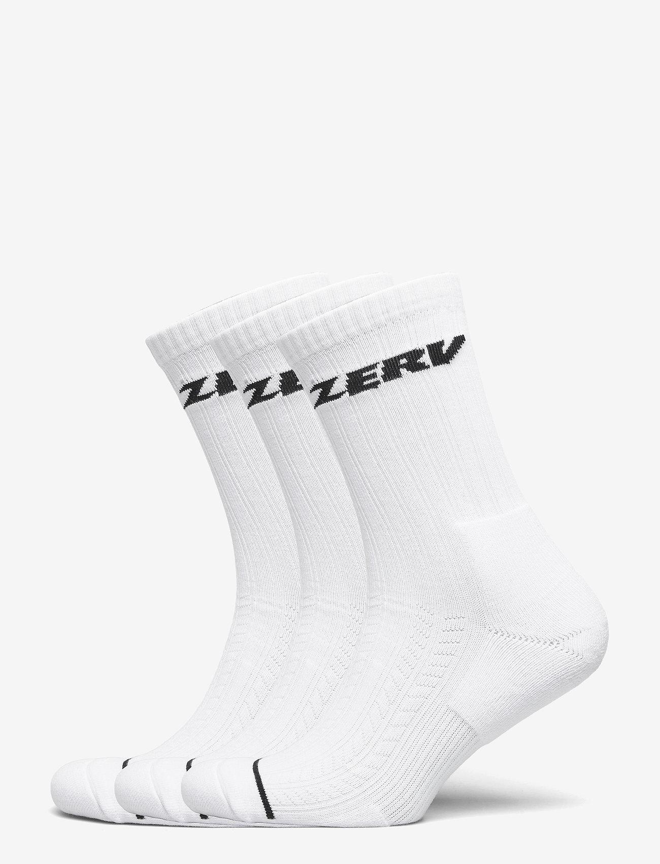 Zerv - ZERV Premium Socks 3-Pack - skarpety crew - white - 0