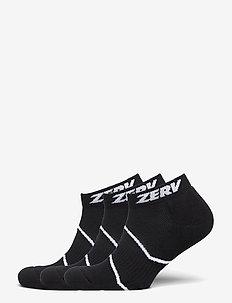 ZERV Premium Socks Short 3-Pack - skarpety za kostkę - black