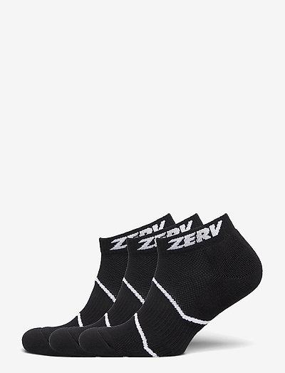 ZERV Premium Socks Short 3-Pack - ankelstrumpor - black
