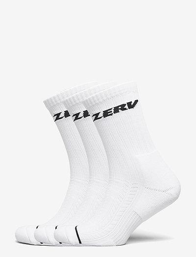 ZERV Premium Socks 3-Pack - vanliga strumpor - white