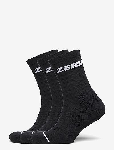 ZERV Premium Socks 3-Pack - vanliga strumpor - black