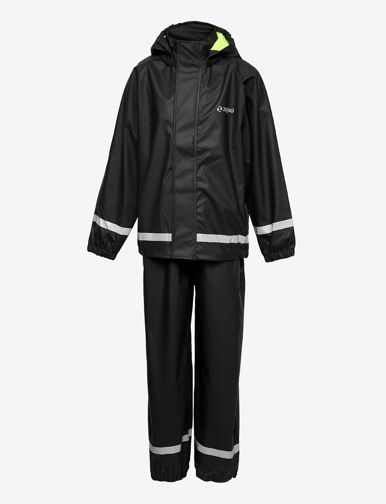 ZigZag - Rieti PU Rain Set - sets & suits - black - 0