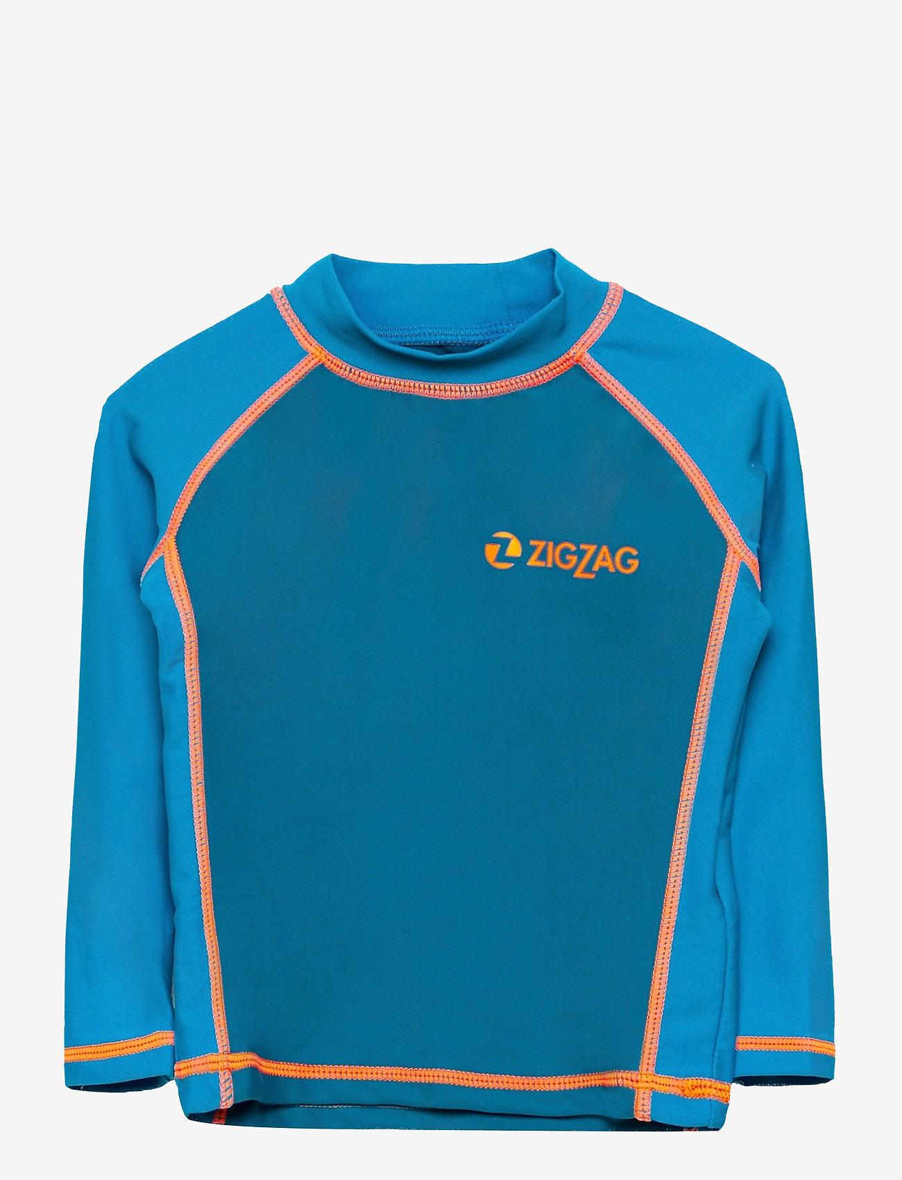 ZigZag - Saltash UVA L/S Swim Tee - koszulki - celestial - 0