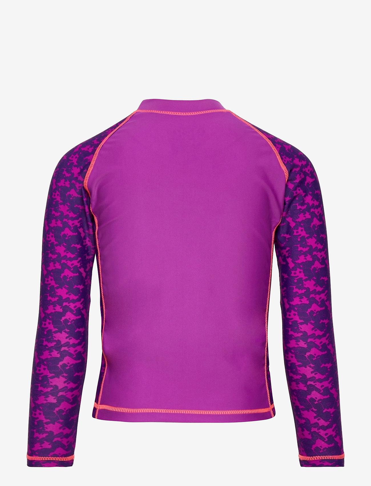 ZigZag - Ebre UVA L/S Swim Tee - koszulki - purple flower - 1