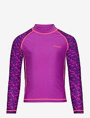 ZigZag - Ebre UVA L/S Swim Tee - koszulki - purple flower - 0