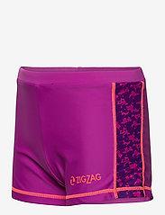ZigZag - Logone UVA Girls Swim Shorts - badehosen - purple flower - 2