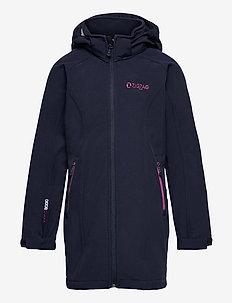 Mansiy Long softshell jacket - windbreaker - navy
