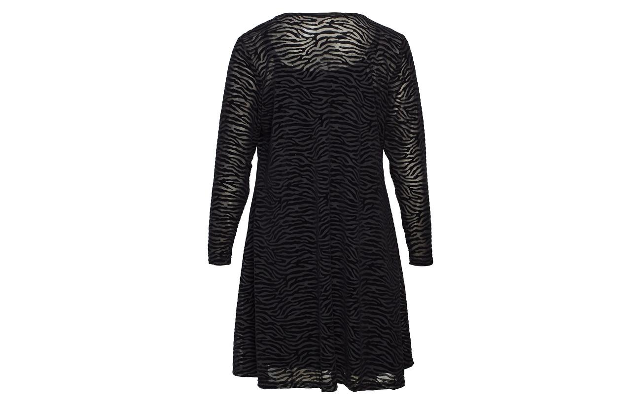 Zizzi s Polyester Mmarie 100 Mesh Dress L Black qExqwr0n