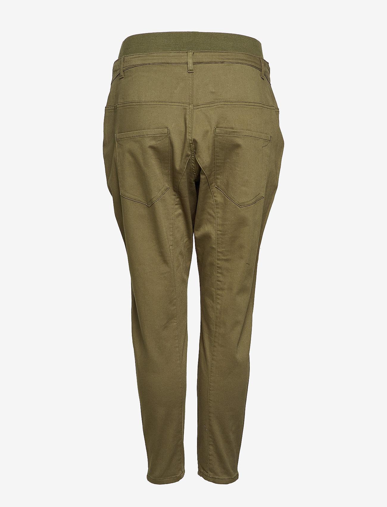Zizzi PANTS, LONG - Spodnie GREEN - Kobiety Odzież.