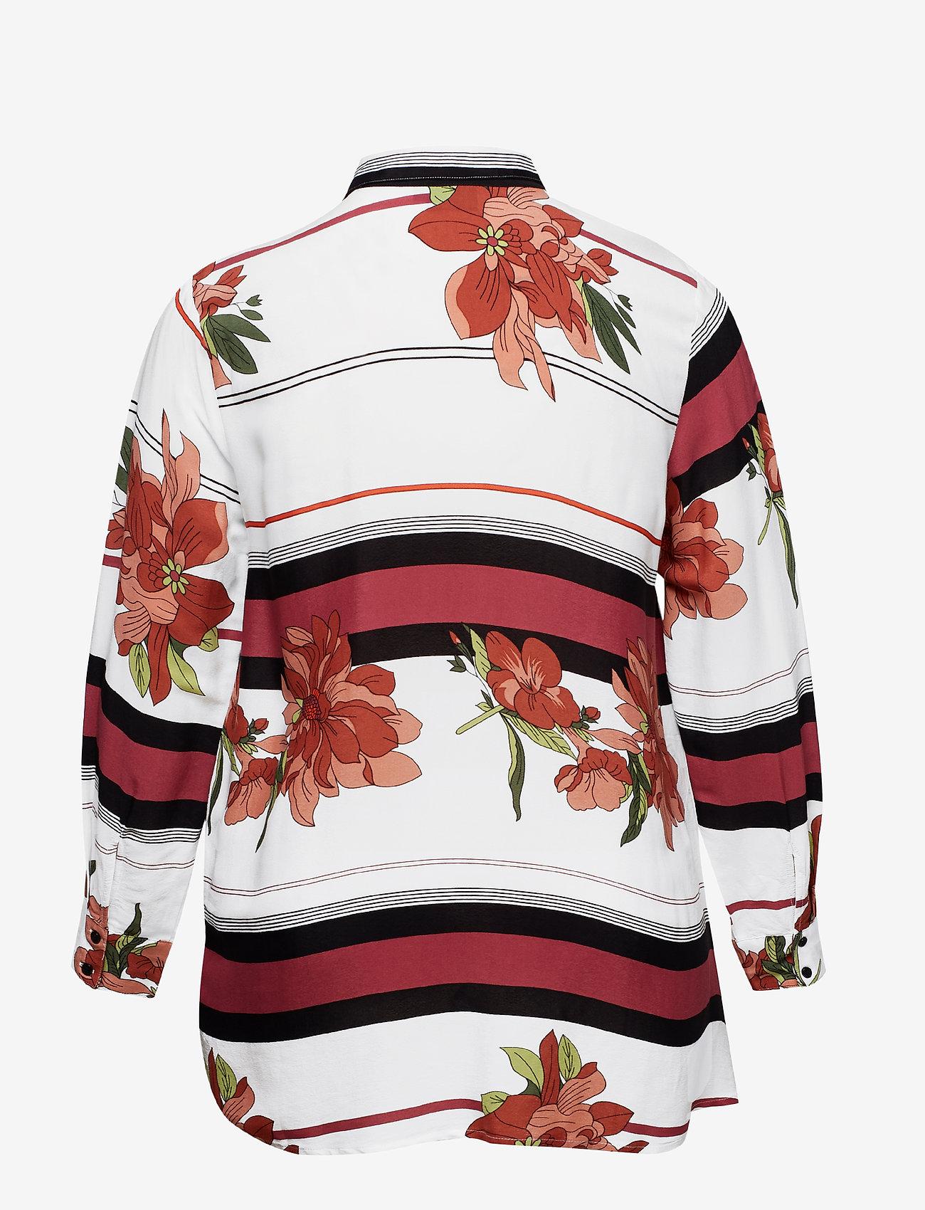 Zizzi Mmarikka, L/s, Shirt - Blusar & Skjortor White