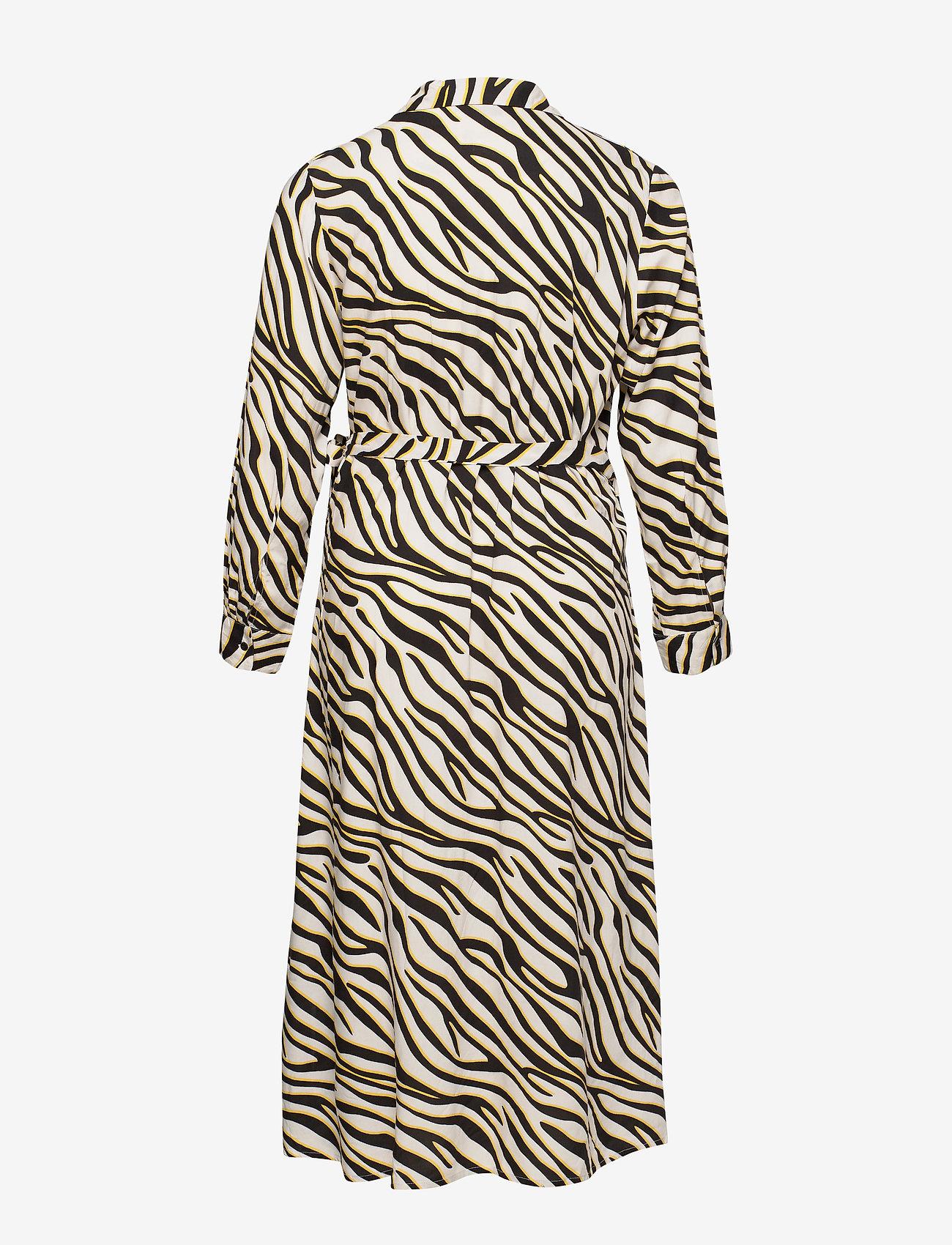 Zizzi MNIA, L/S, DRESS - Sukienki OFF-WHITE - Kobiety Odzież.