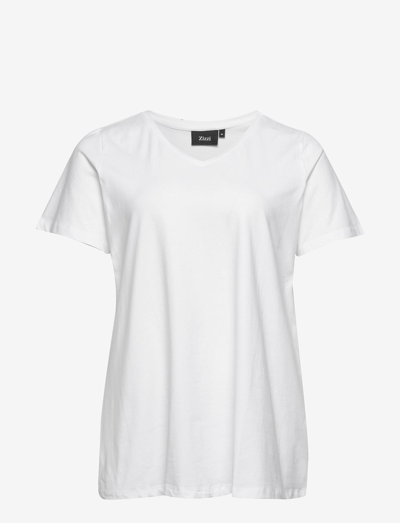 Zizzi S/S T-SHIRT NOOS - T-Shirts & Tops WHITE - Damen Kleidung