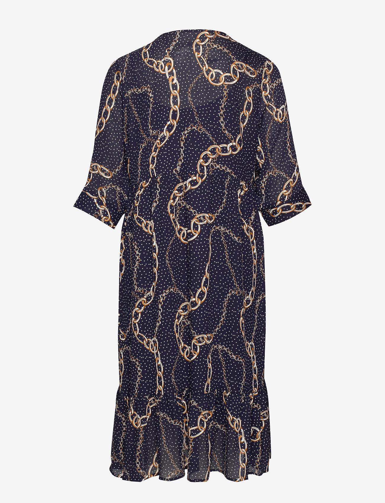 Xandi, ¾, Dress (Black) - Zizzi 1a62g0