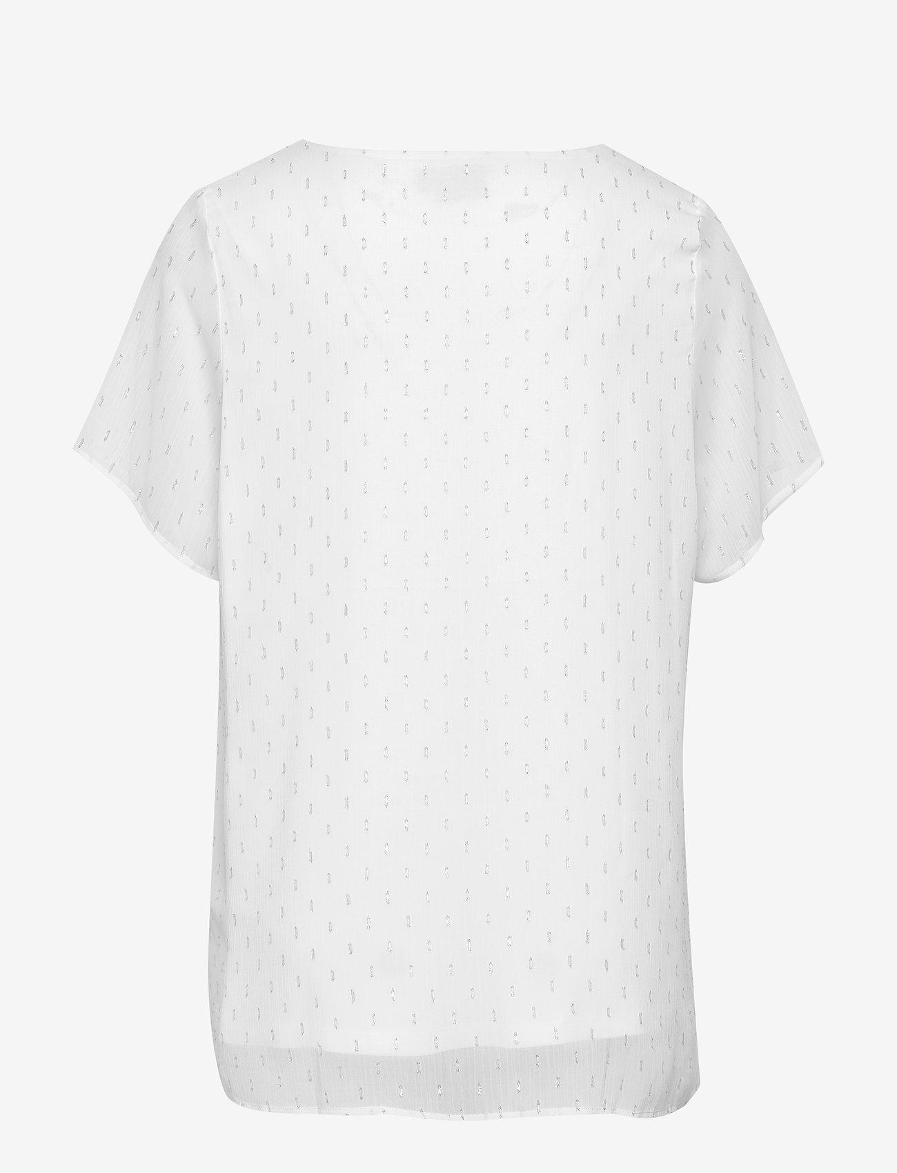 Zizzi - XMELIA, S/S, TOP - lyhythihaiset puserot - white