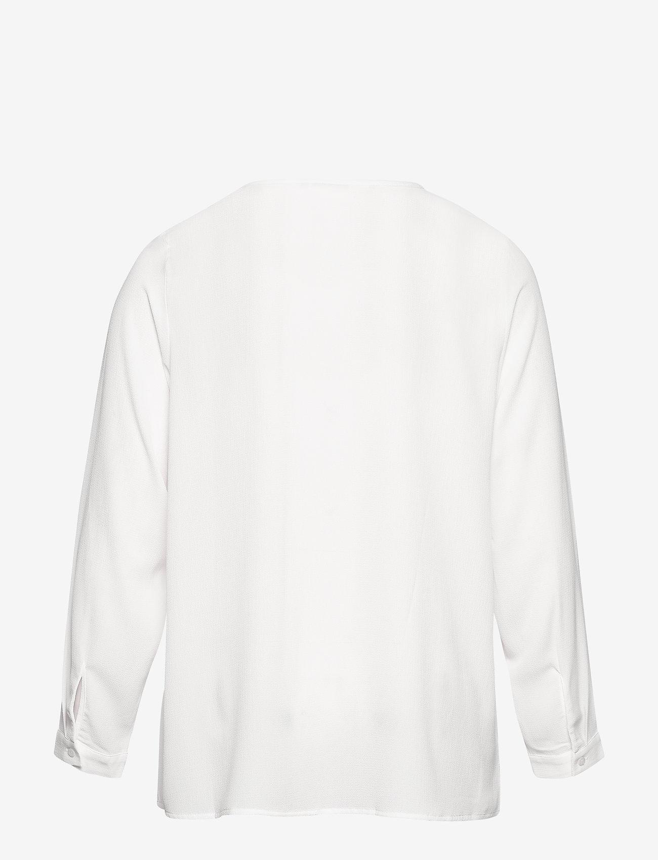 Zizzi - Blouse Lace Detail Plus Size Round Neck - blouses à manches longues - off-white - 1
