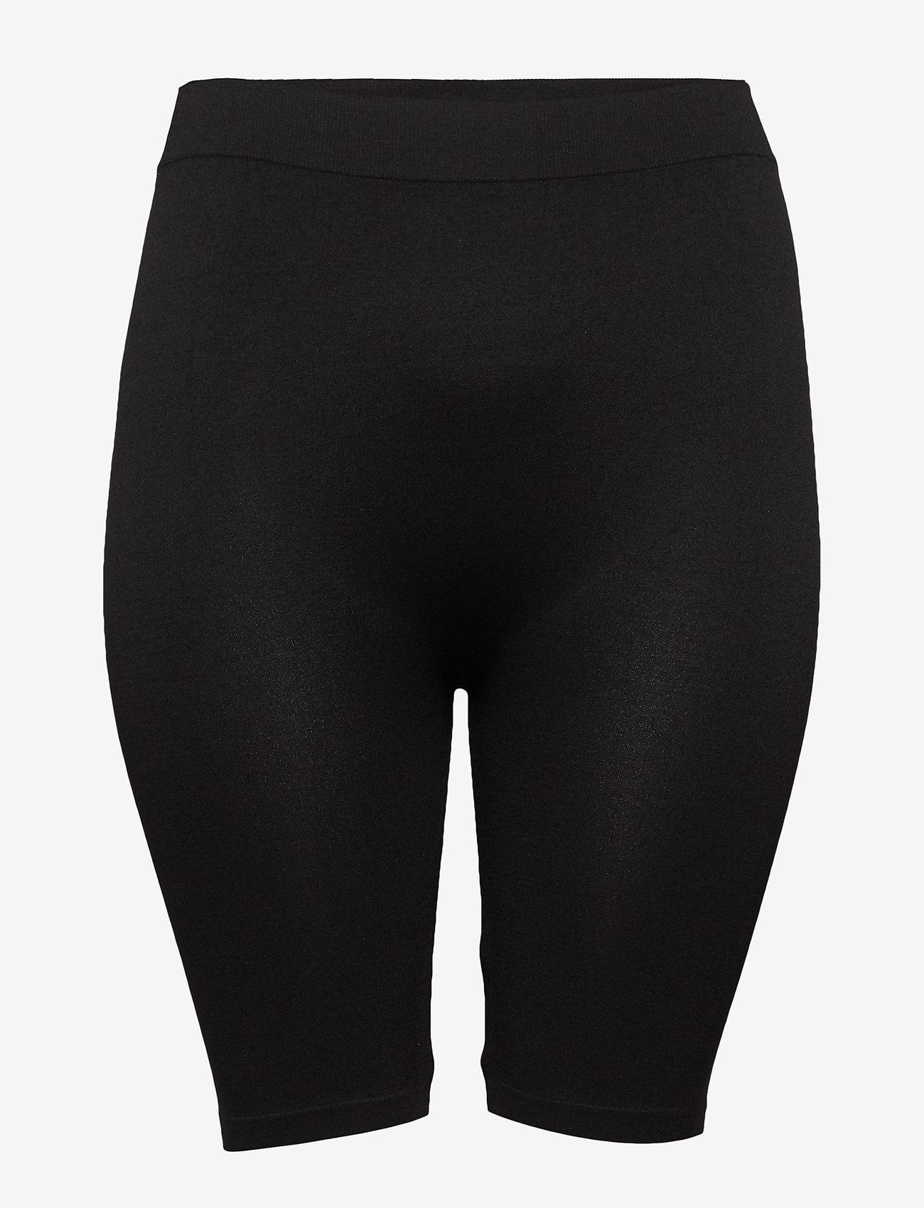 Zizzi - Cycling Shorts Plus Size Seamless - cykelshorts - black - 0