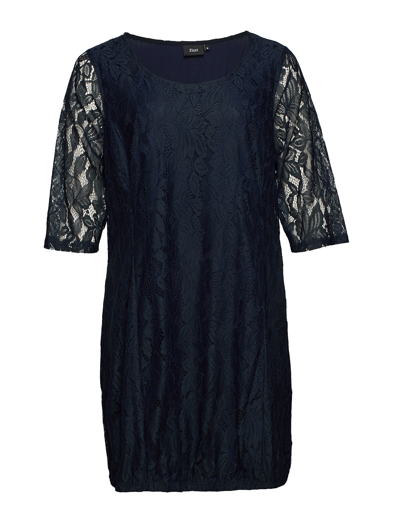 Zizzi XAPONI, 3/4, LACE DRESS - NIGHT SKY