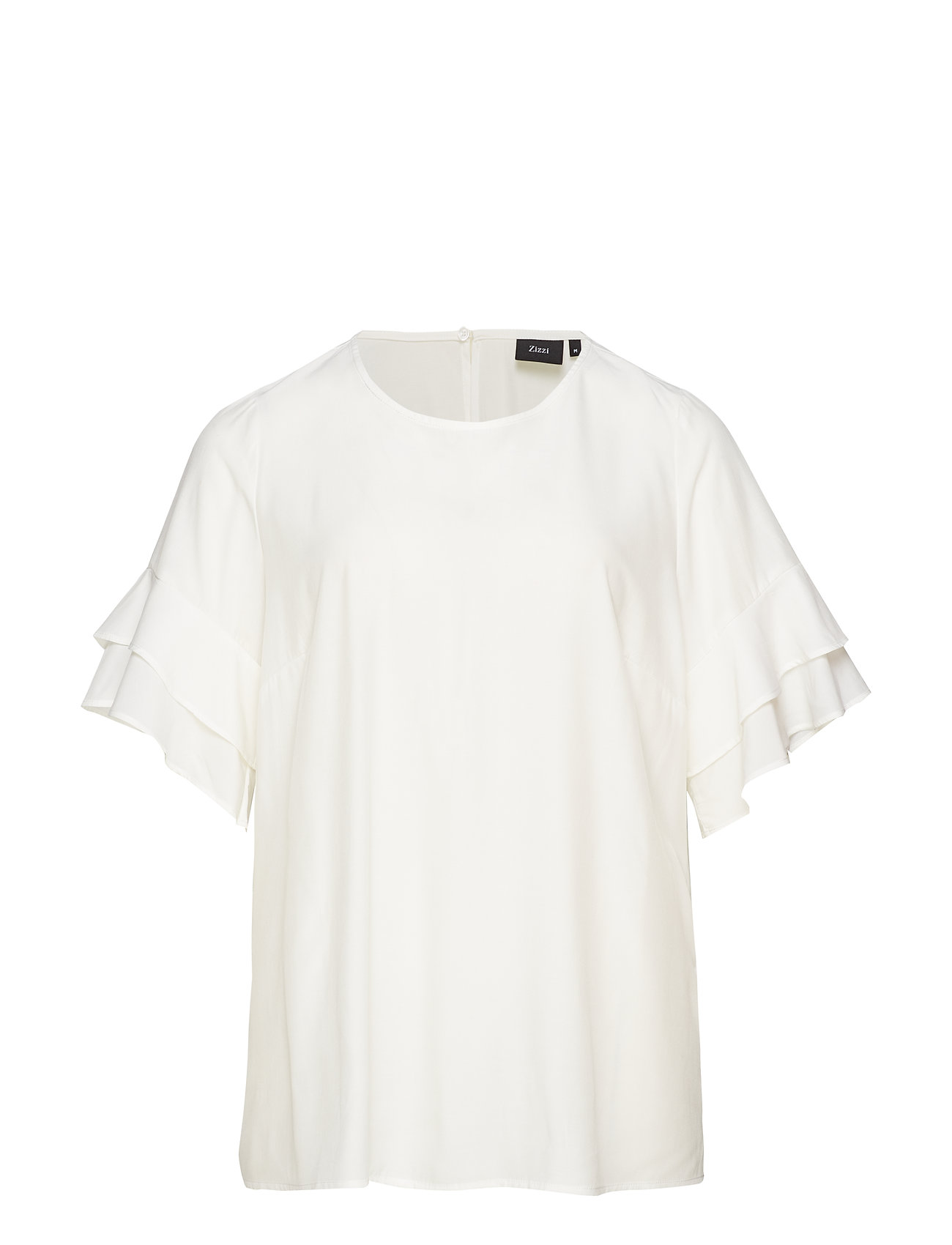 Zizzi XANDRINE, S/S, BLOUSE - OFF-WHITE