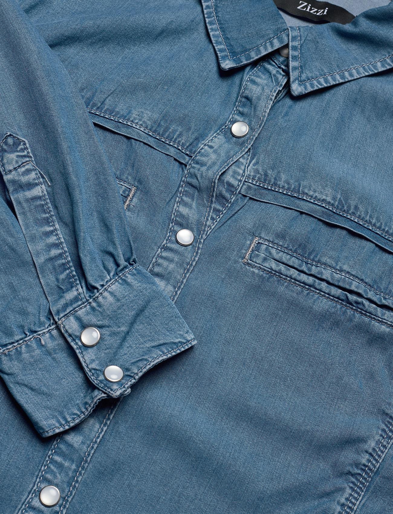 Zizzi JANNA, LS, SHIRT - Bluzki & Koszule BLUE - Kobiety Odzież.