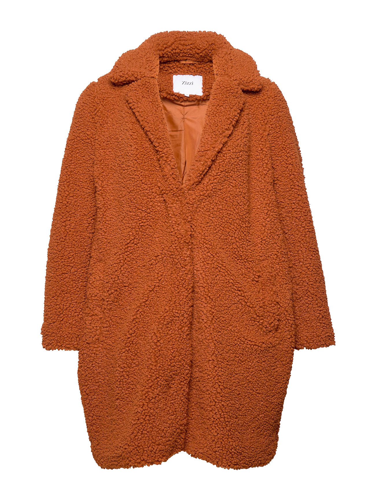 Zizzi MTEDDY, L/S, COAT - GINGER BREAD