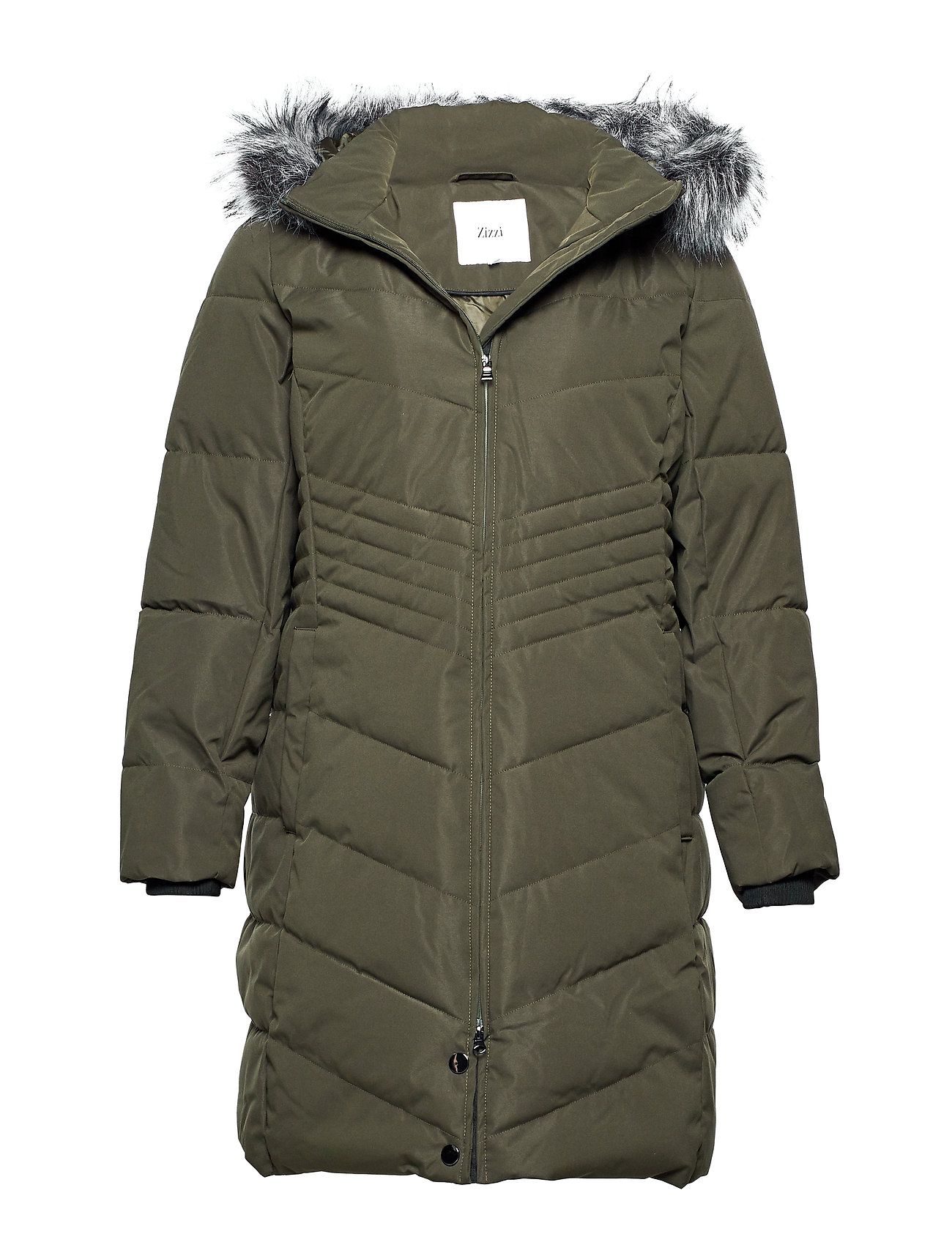 Zizzi MLUXA, L/S, COAT - GREEN