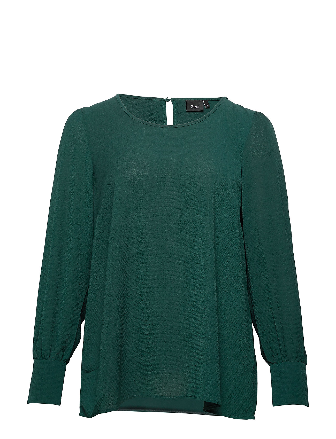 Zizzi MPHILIA, L/S, BLOUSE - DARK GREEN