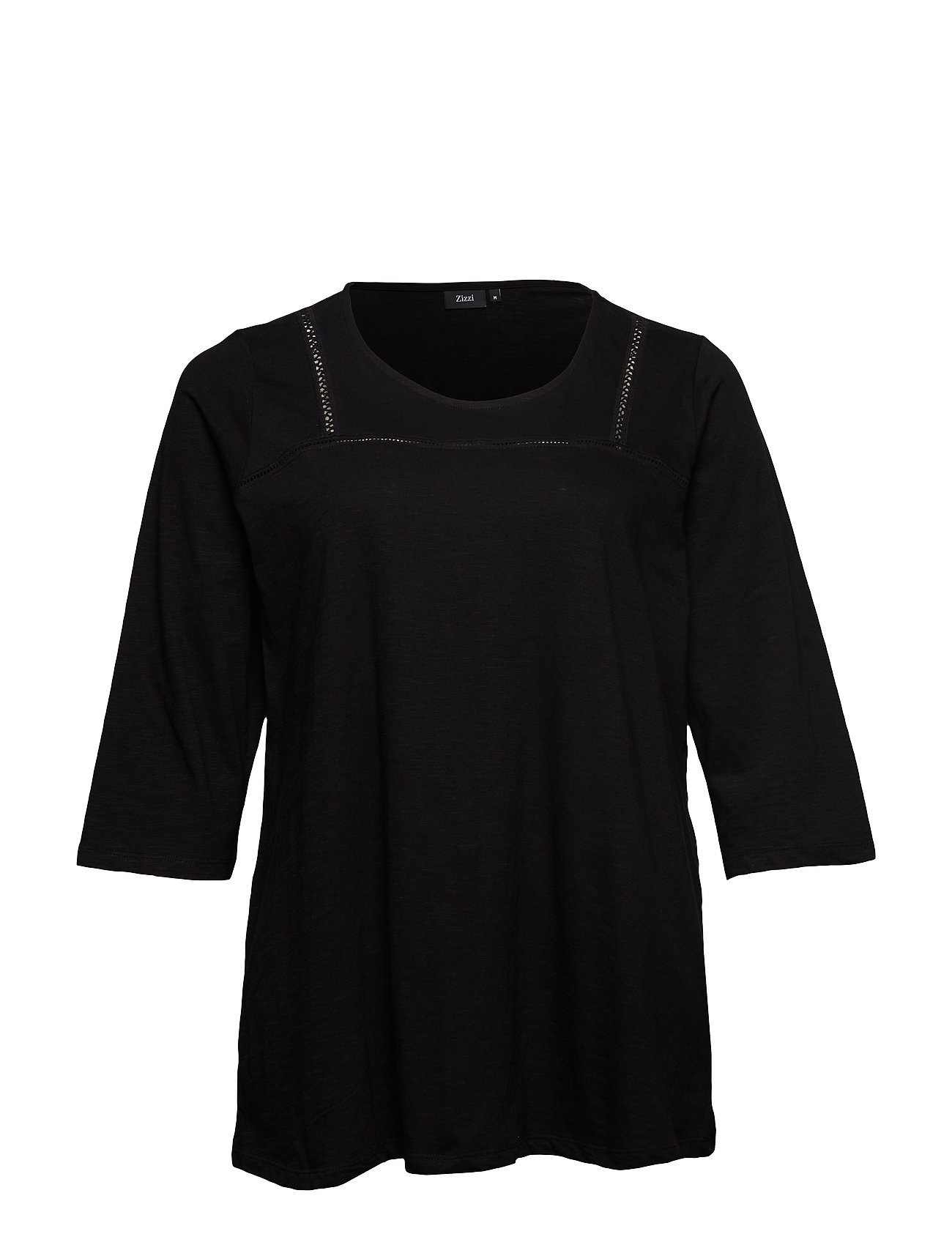 Zizzi MHOLLY, 3/4, TOP - BLACK