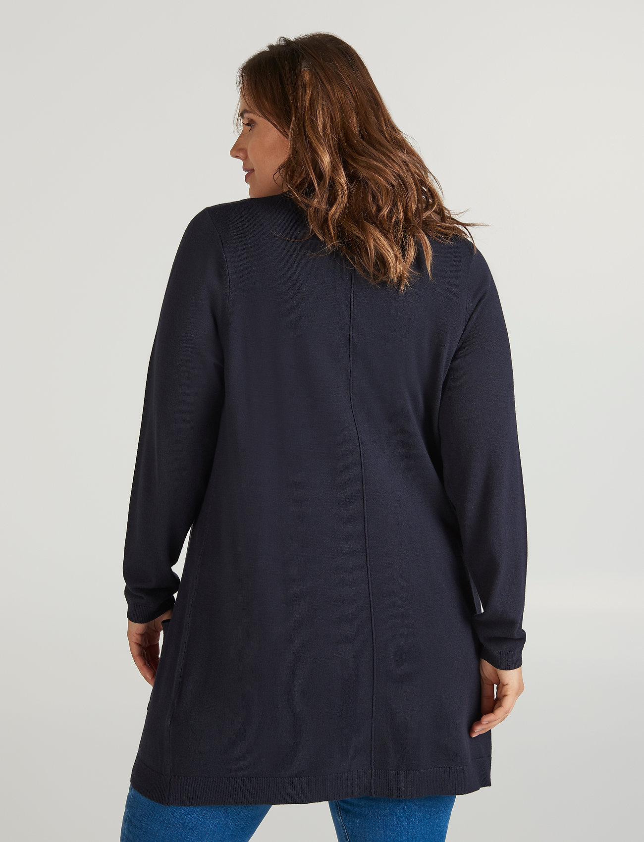 Zizzi Cardigan, Long Sleeve - Strickmode DARK BLUE - Damen Kleidung