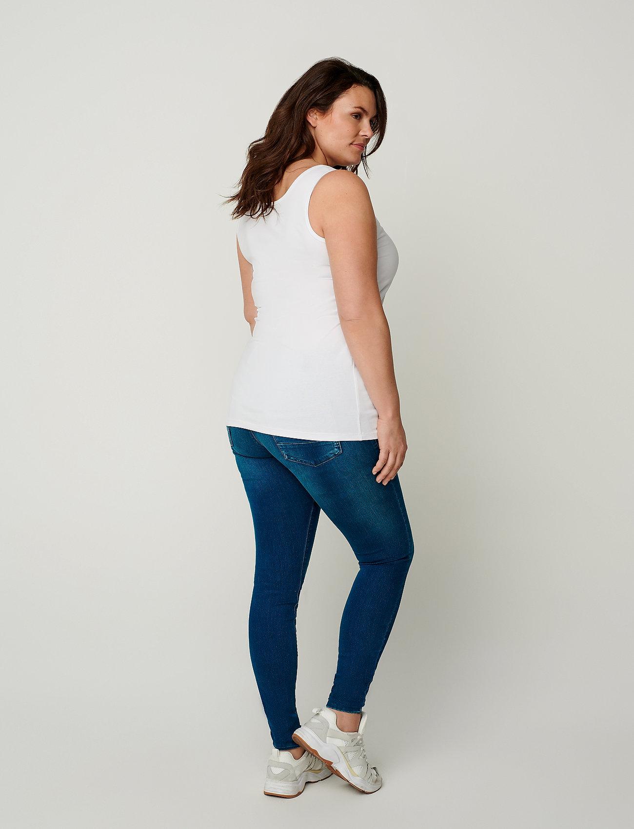 Zizzi TANK TOP - T-Shirts & Tops WHITE - Damen Kleidung