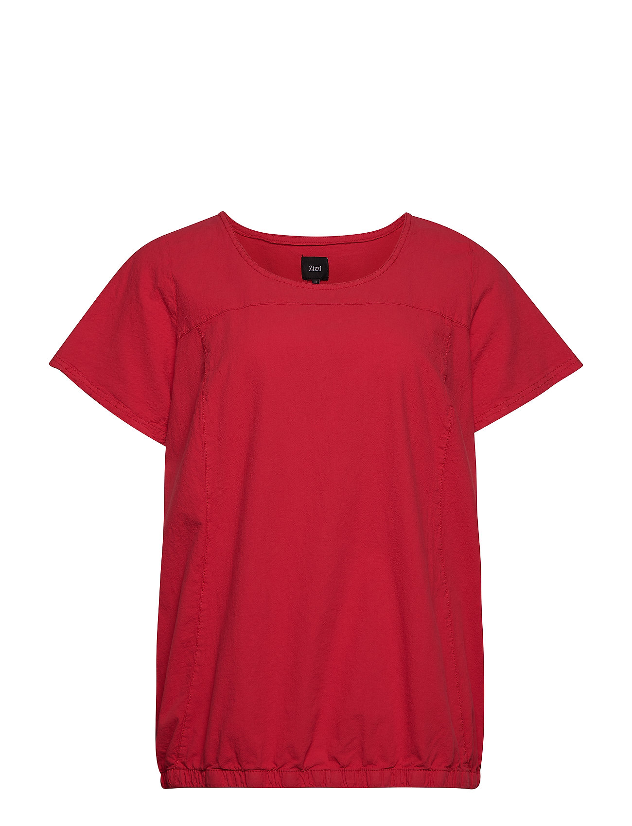 Zizzi MMarrakesh, SS, BLOUSE - RED