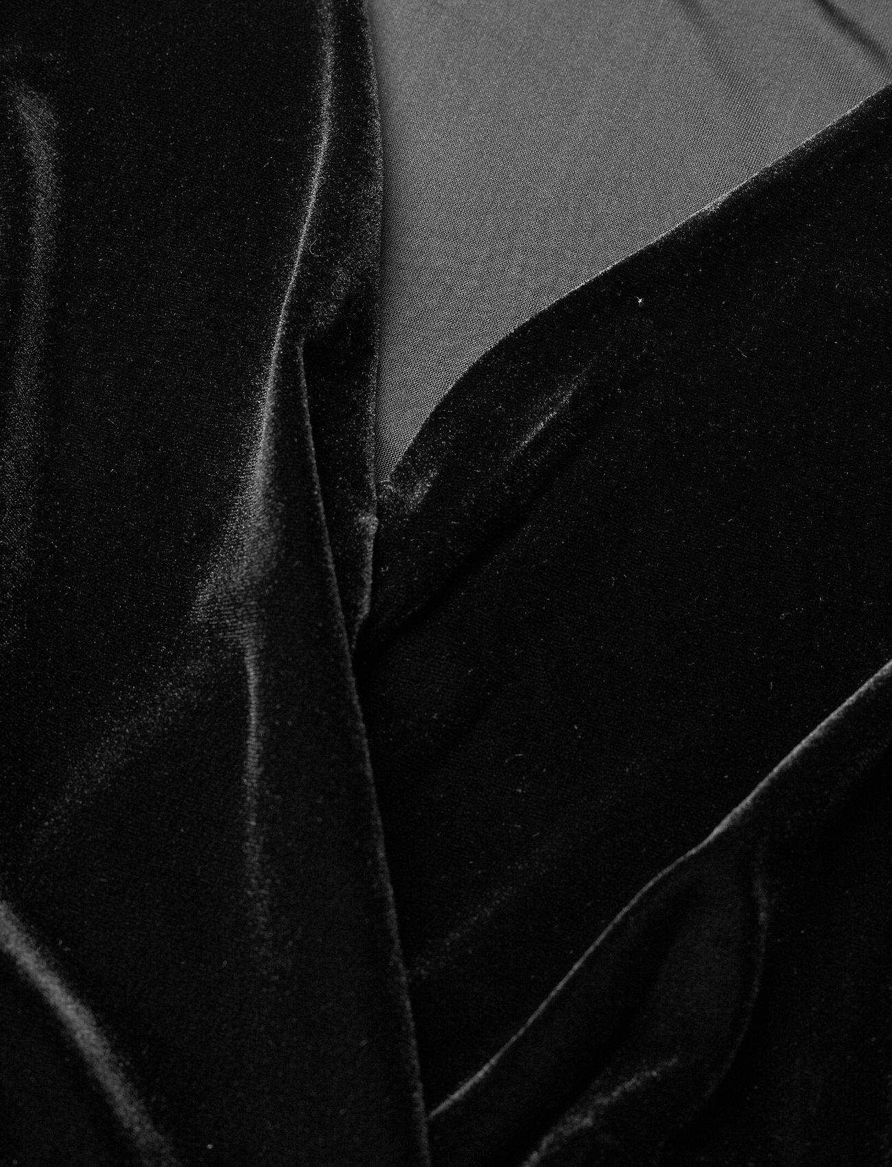 Dress Velvet Plus Size Stretch Long Sleeves (Black) (34.98 €) - Zizzi zAxh7