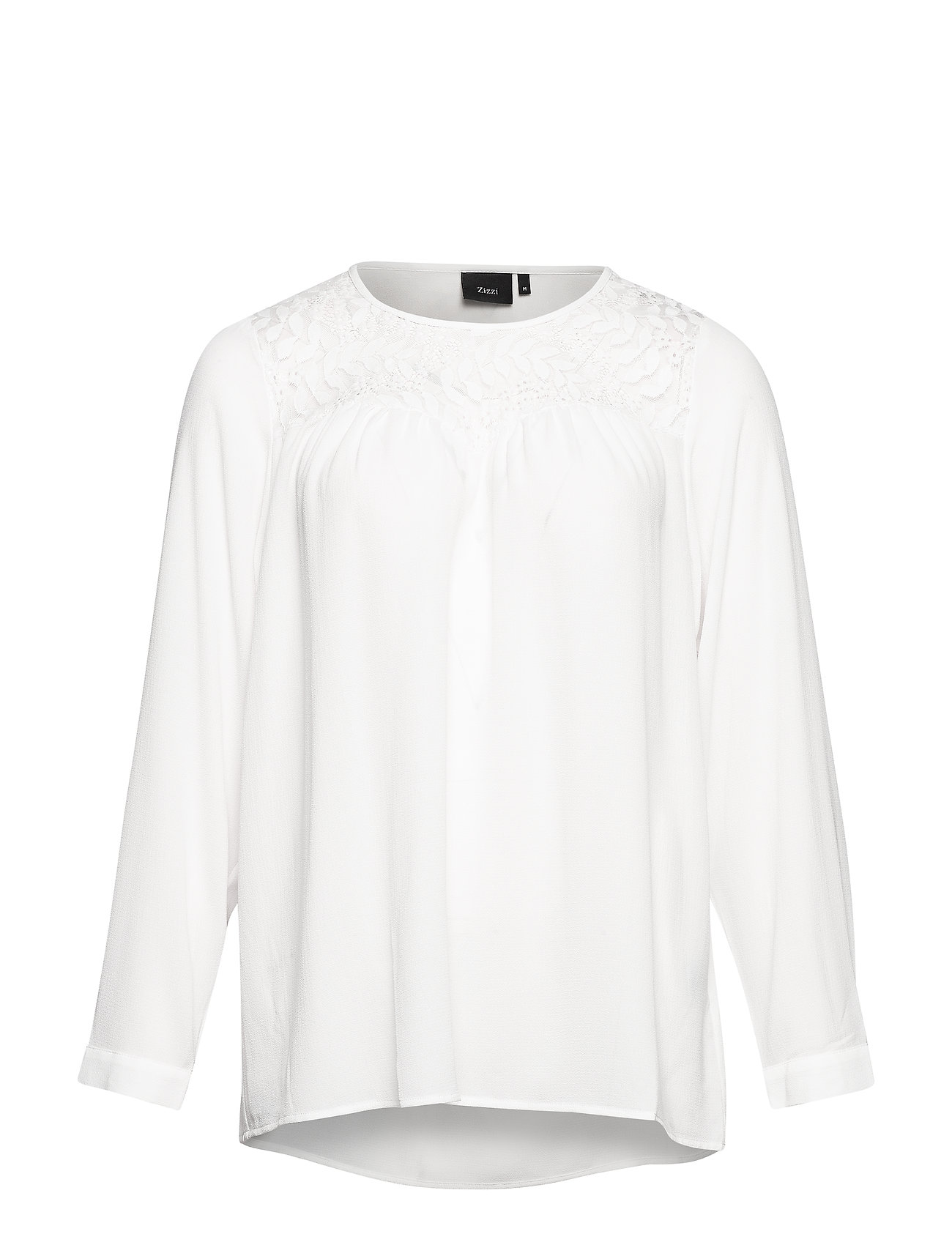 Zizzi XGERTRUD, L/S, BLOUSE - OFF-WHITE