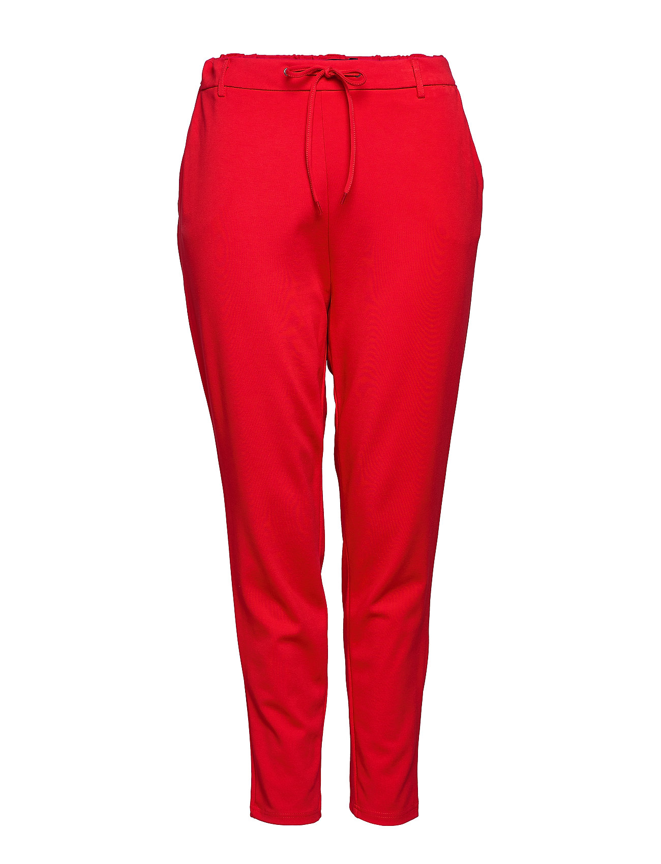 Image of Trousers 7/8 Length Plus Tappered Fit Casual Bukser Rød Zizzi (3488816153)