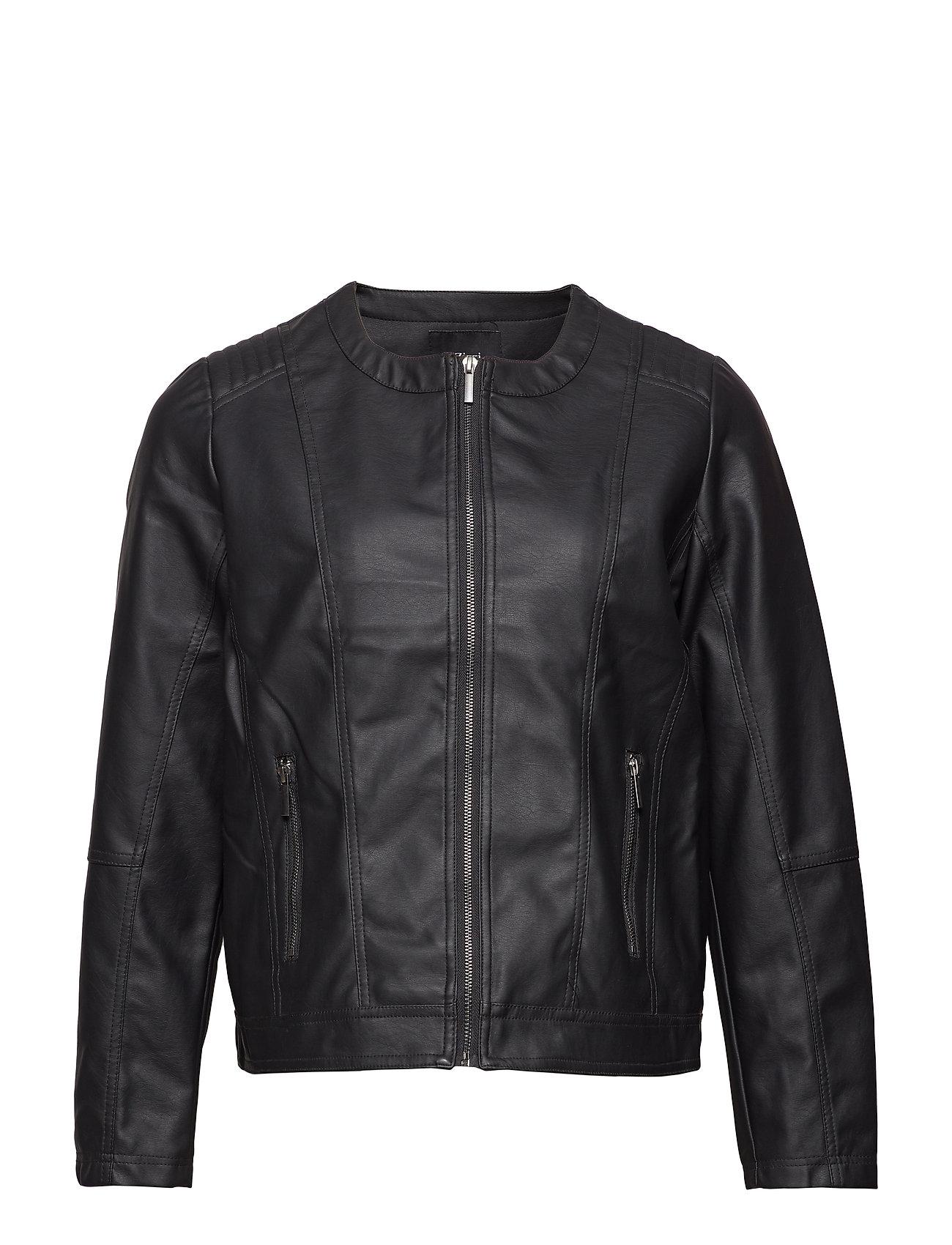 Zizzi Imitated leather jacket - BLACK