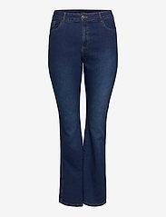 Zizzi - Jeans Bootcut Plus Size High Waist Flared - bootcut jeans - dark blue - 0