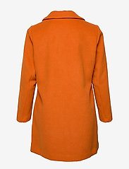 Zizzi - MFAME, L/S, COAT - wool jackets - dark orange - 1