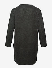 Zizzi - Knitted Dress Plus Size Slits - robes en maille - dark green - 1