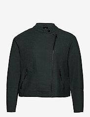 Zizzi - Faux Suede Jacket Plus Size Zipper Collar - lichte jassen - green - 2