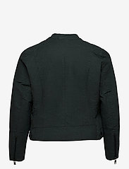 Zizzi - Faux Suede Jacket Plus Size Zipper Collar - lichte jassen - green - 3