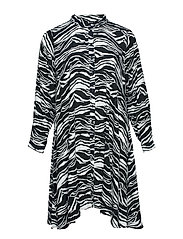 XALGOMAR, L/S, SHIRTDRESS - BLACK ZEBRA