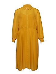 XETTE, MAXI DRESS - YELLOW