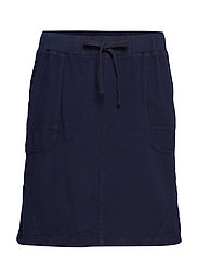 JELENA, KNEE LG., SKIRT - DARK BLUE