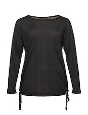 MSIV, L/S, BLOUSE - BLACK