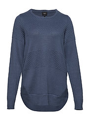 MSUMA, L/S, BLOUSE - BLUE
