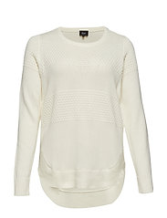 MSUMA, L/S, BLOUSE - OFF-WHITE