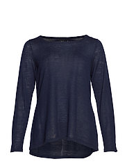 MMALUCCA L/S BLOUSE - DARK BLUE