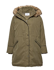 MYOLA, L/S PARKA COAT - GREEN