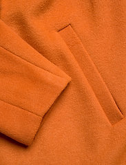 Zizzi - MFAME, L/S, COAT - wool jackets - dark orange - 3